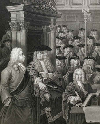 House of Commons in its eighteenth-century building; 1810