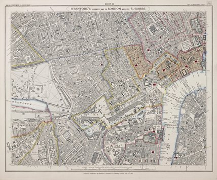 Stanford's library map of London and its suburbs: 1862