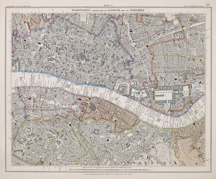 Stanford's library map of London and its suburbs: sheet 11: 1862