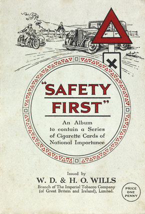 Safety First cigarette cards: c.1935