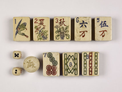 Game of Mah-Jong; c 1930