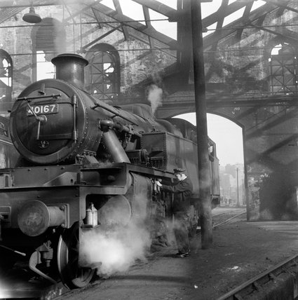 Steam engine used by trainee engine drivers; 1955