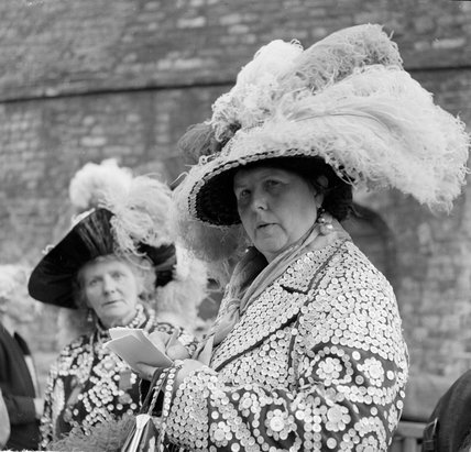 Pearly Queens at the Costermongers Harvest Festival; 1951