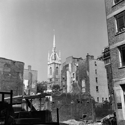 St Dunstans in the East Church; 1953