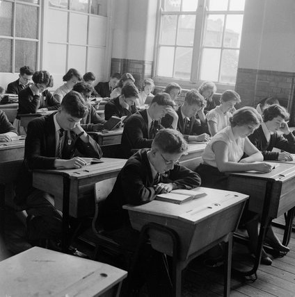 Pupils at the Haverstock Comprehensive School; 1957