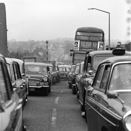 Traffic on Neasden Lane; 1958