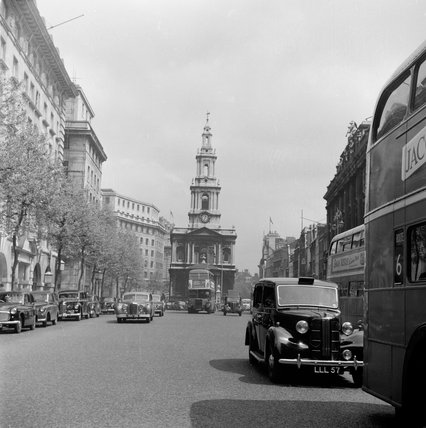 St Mary Le Strand Church; c.1955