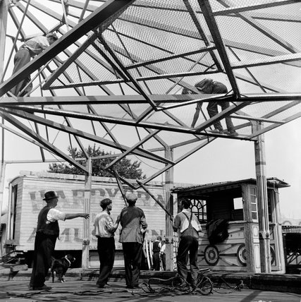 Dismantling Hampstead Fun Fair; c.1955