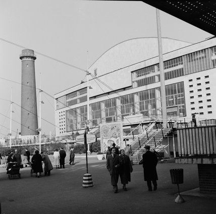 The Royal Festival Hall during the Festival of Britain; 1952