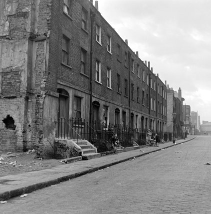 Terraces in Lancing Street, Camden; c.1956