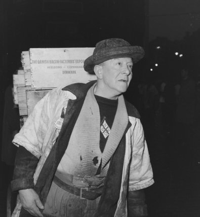 A porter at Billingsgate Market: 1958