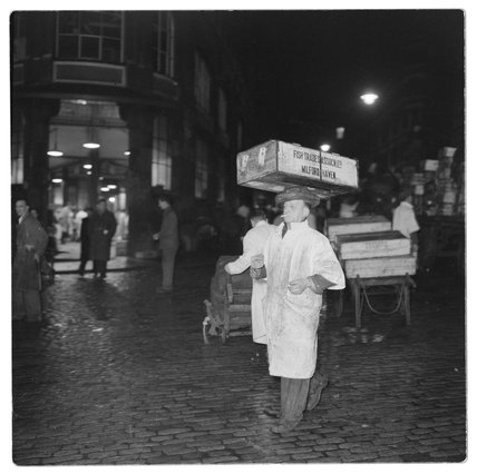Porter at Billingsgate Market: 1958