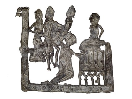 Pilgrim badge from the shrine of St Thomas Becket at Canterbury Cathedral: 14th Century