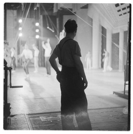 In the wings at the London Palladium: 1956