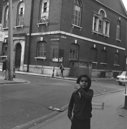 General view of the Great Synagogue, Brick Lane: 1974