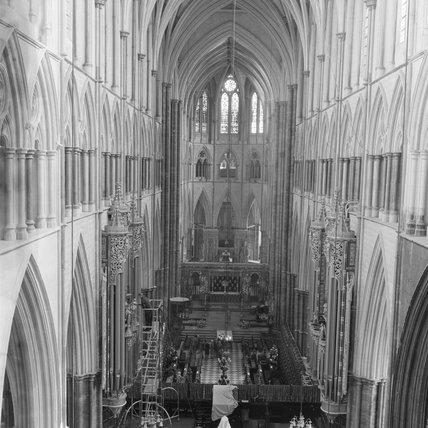 Internal shot of Westminster Abbey; 1960