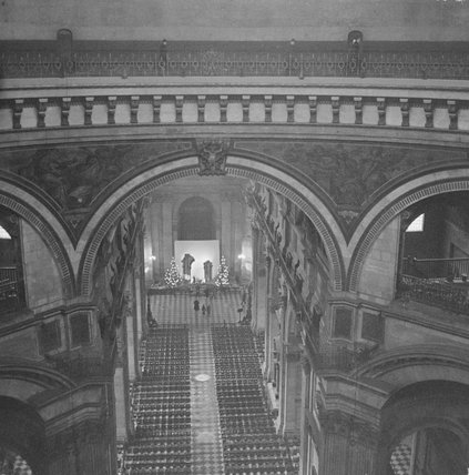 Interior view of St Paul's Cathedral; 1960