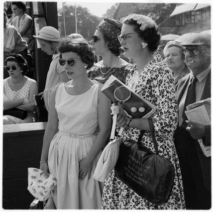 Spectators at the All England Lawn Tennis Championships; 1960