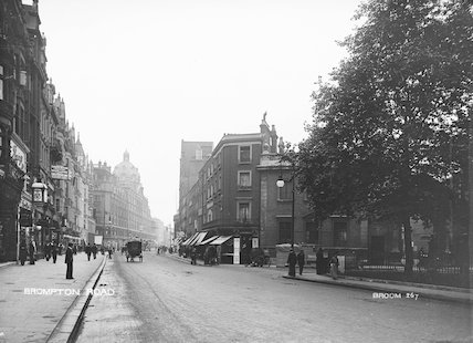 A view of Brompton Road; c 1906