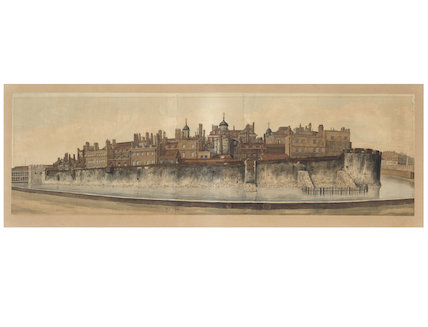 The Tower of London from the East Side; 1826