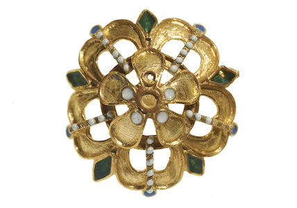 A dress button; 16th century - early 17th century