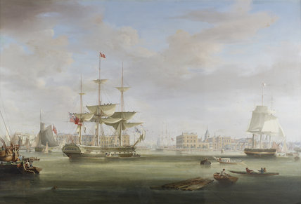 Thomas King Entering London Dock: c.1825