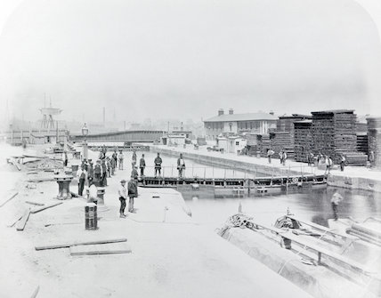 The Surrey Lock of the Surrey Commercial Dock; 1876