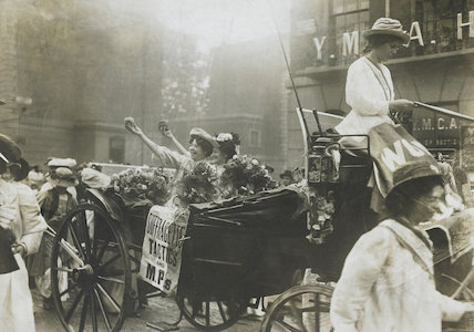 Mary Leigh and Edith New, the first suffragette window smashers,