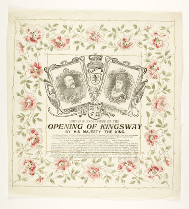 Souvenir Programme of the opening of Kingsway by his Majesty the