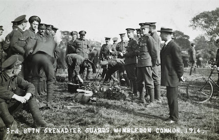 The 3rd Battalion Grenadier Guards prepare for war; 1914