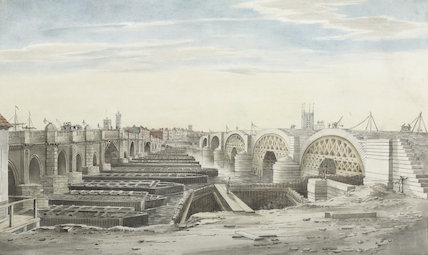 View from near New London Bridge, 1829