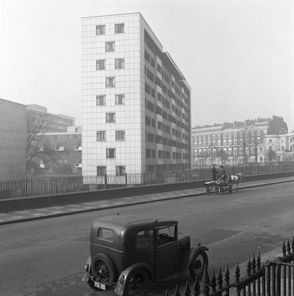 Carnarvon House at the junction of Gloucester Terrace and Bishop's Bridge Road. c.1955