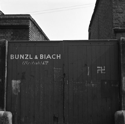 Bunzl and Biach (British) Ltd gates. c.1955