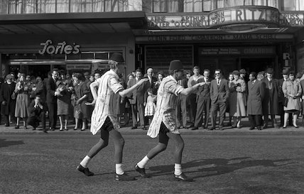 Two street entertainers. c.1955