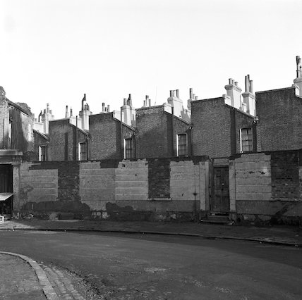 The backs of houses. c.1955