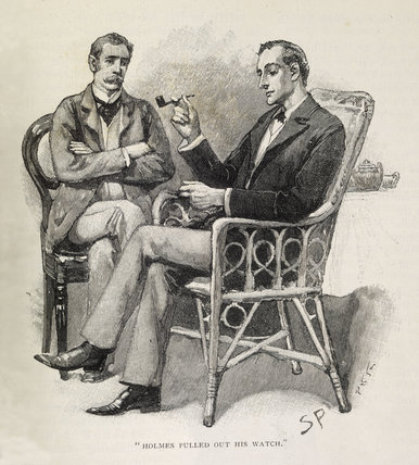 Sherlock Holmes Illustration from the Strand Magazine;1893