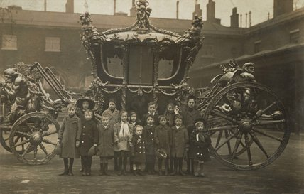 Children alongside the King's State Coach;c1925