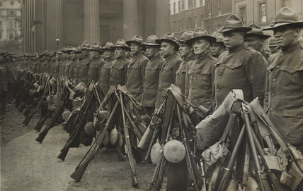 The first American contingent of the war; 1917