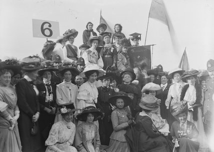 Suffragettes in Hyde Park on Women's Sunday; 1908