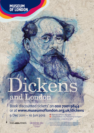 Dickens and London exhibition poster 2011