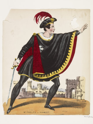 Mr Phelps as Hamlet: c.1645