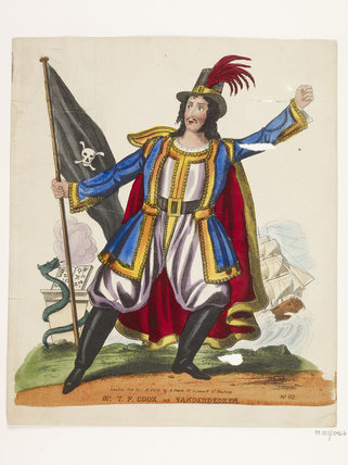 Mr T.P. Cooke as Vanderdecken: 1838