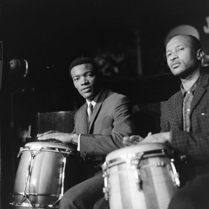 Drummers performing at the Royal Albert Hall; 1963