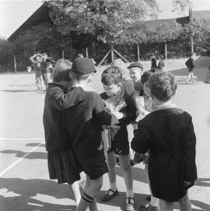 Break time at the Courtland Primary School; 1964