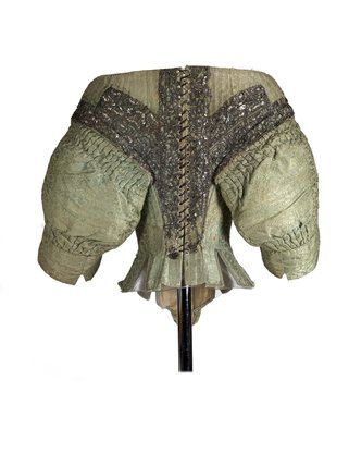 Back view of a woman's bodice; 1660