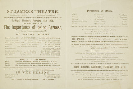 The Importance of Being Earnest; 1895