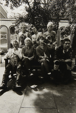 Punks hanging out on the King's Road