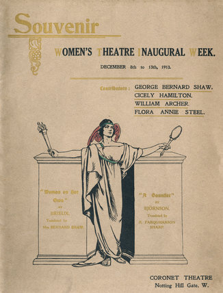 Souvenir programme of the Women's Theatre Inaugural Week, Decemb