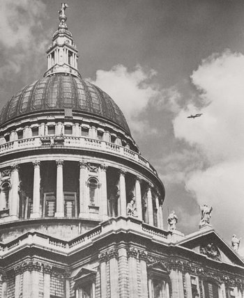 V-1 flying bomb over St Paul's Cathedral