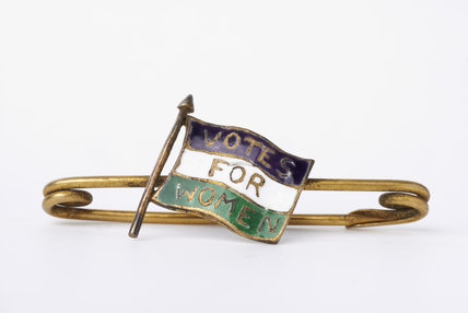 Suffragette bar brooch;